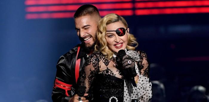 Show con hologramas de Madonna y Maluma en los Billboard