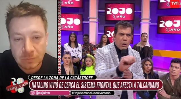 Natalino habló de cómo vivió la tromba en Talcahuano
