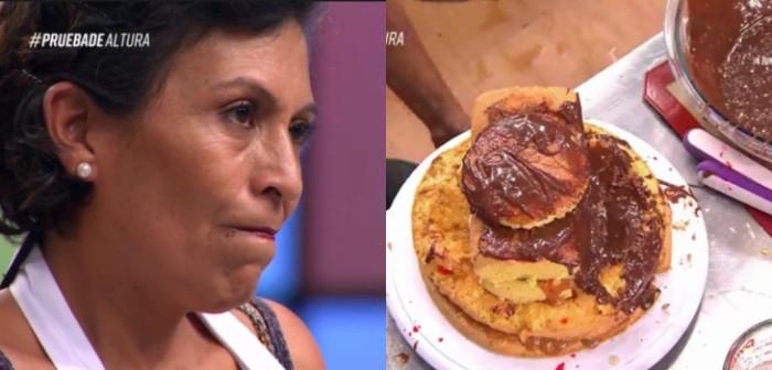 Fidelina y su torta en MasterChef