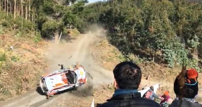 Thierry Neuville sufrió accidente en el Rally Mundial