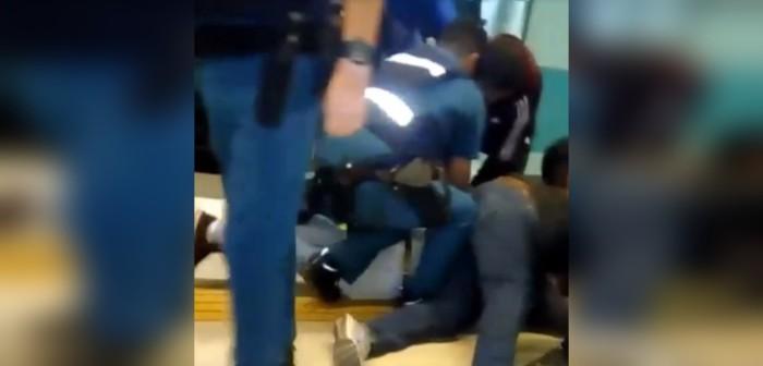 Una riña se generó en la estación Vicente Valdés del Metro de Santiago