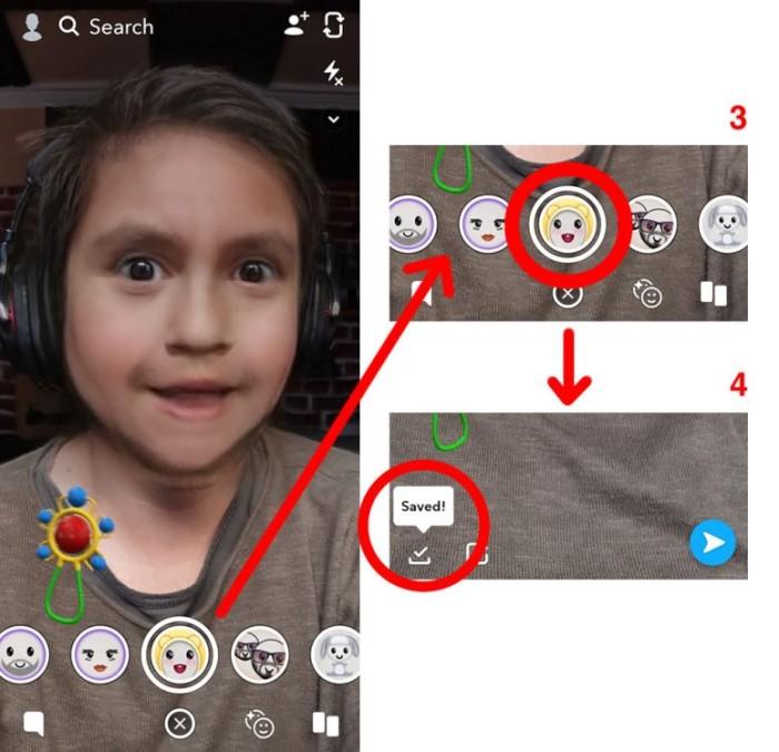 Filtro de bebé y cambio de sexo Snapchat
