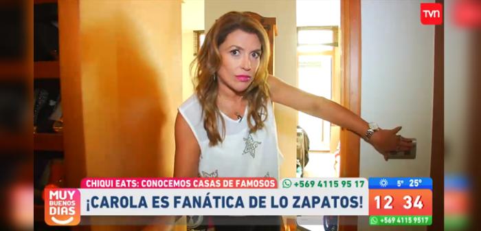 Carolina Arregui mostró su casa en Muy Buenos Días