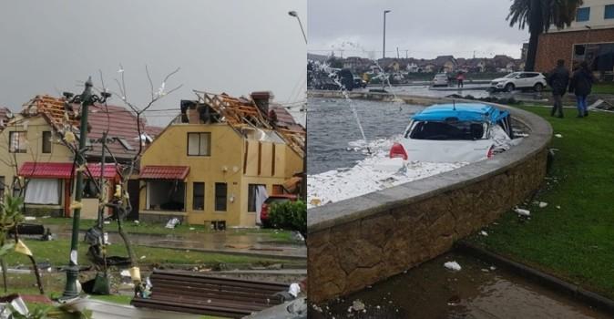 consecuencias que dejó tromba en Concepción y Talcahuano