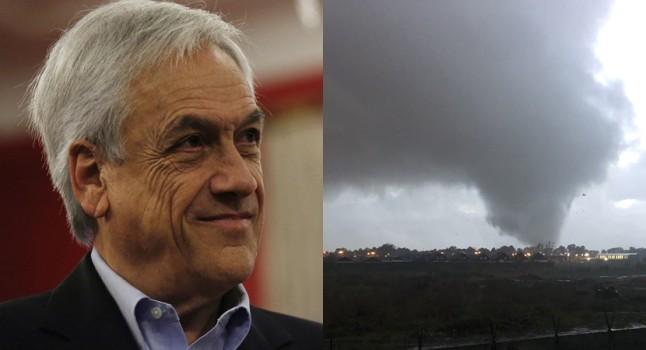 Tornado en Los Ángeles: Sebastián Piñera envió mensaje de apoyo a afectados