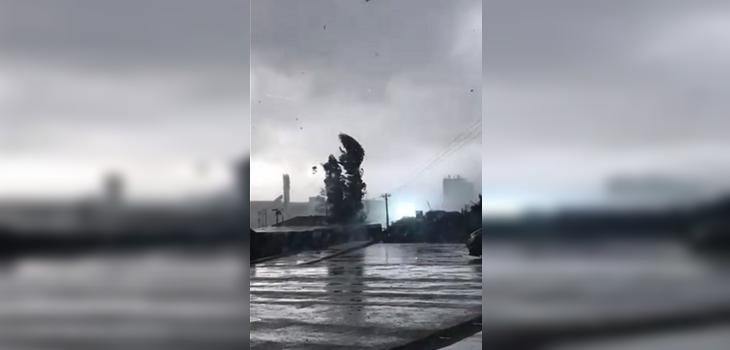 tromba marina en talcahuano pasando por el duoc uc del sector