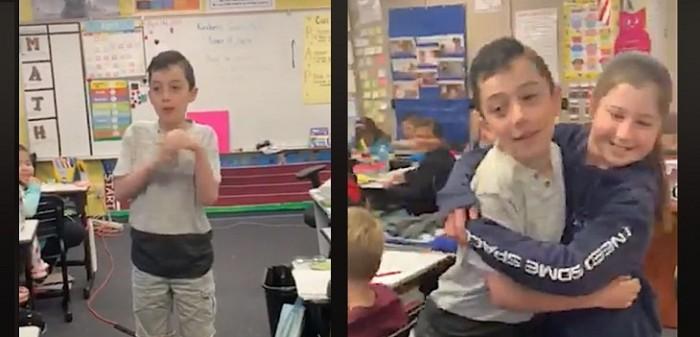 niño revelo a su curso que tiene autismo y emociona a sus compañeros