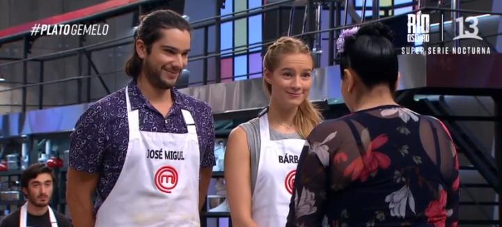 Bárbara y José Miguel en Masterchef