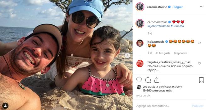 Caro Mestrovic se reencontró con su hija en Estados Unidos