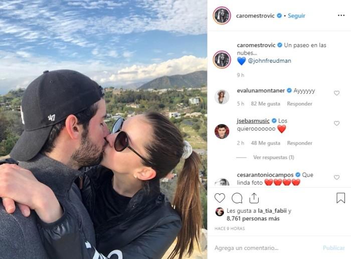 Carolina Mestrovic presentó a su nuevo pololo en redes sociales