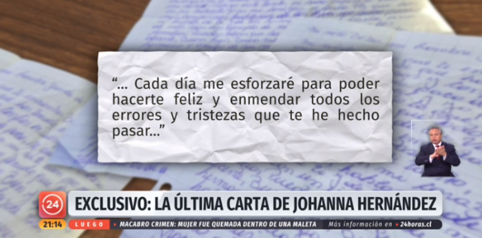 carta de johanna a su madre