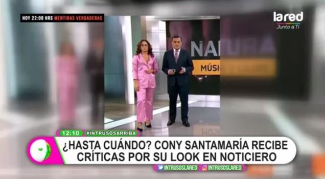 Constanza Santa María recibió críticas por su look