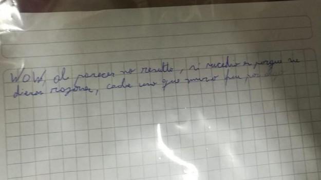 carta que dejó el joven imputado por balear a compañero en puerto montt