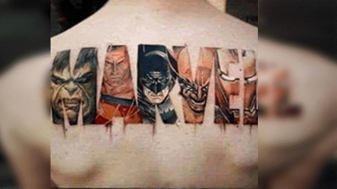 joven se hizo tatuaje de marvel con grosero error