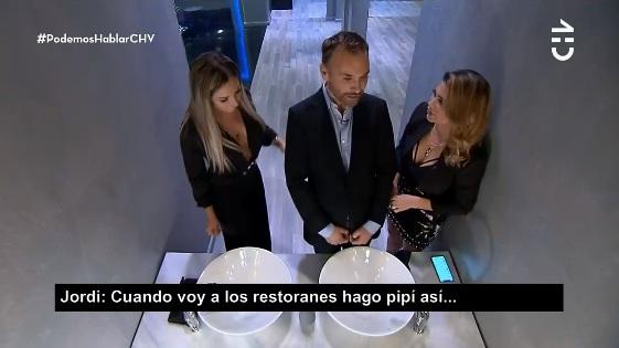 Confesión de Jordi Castell sobre baños en restorán