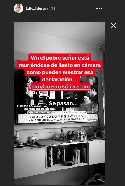 Historias de Instagram de Kel contra matinal de TVN