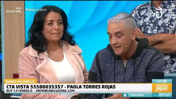 Paola Torres Memo Bunke aneurisma cerebral Viva la pipol CHV