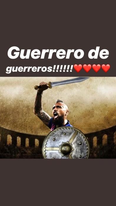 El mensaje de polola de Vidal tras derrota