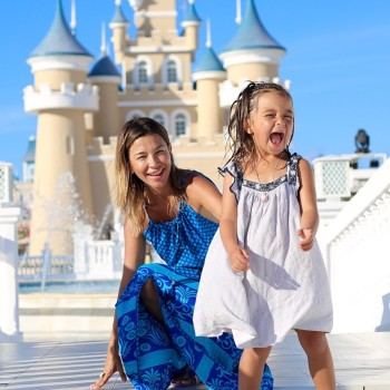 Pancha Merino y su hija menor