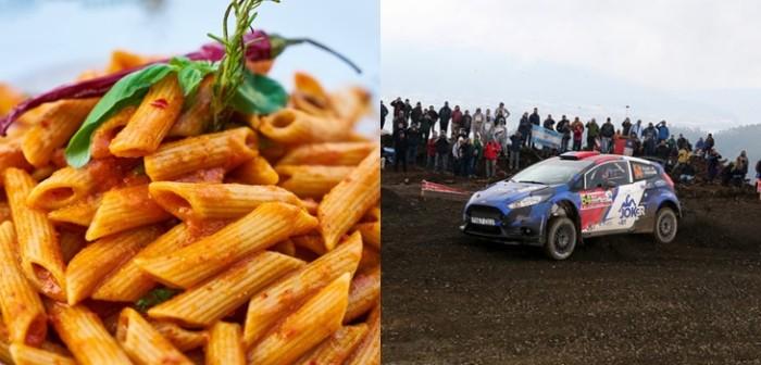 Importancia de comer pastas para pilotos de rally