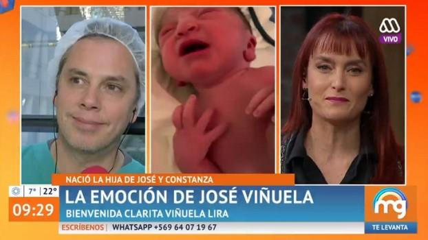 El troleo de Joaquín Méndez a José Miguel Viñuela en foto de su hija recién nacida
