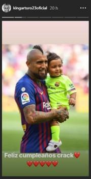 arturo vidal y su hijo emiliano