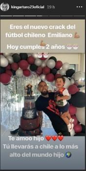 arturo vidal celebro el cumpleaños de su hijo emiliano