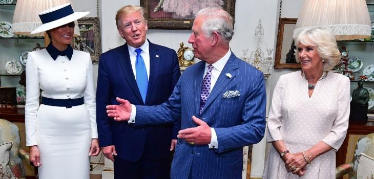 Guiño de Camilla a espaldas de Trump es viral