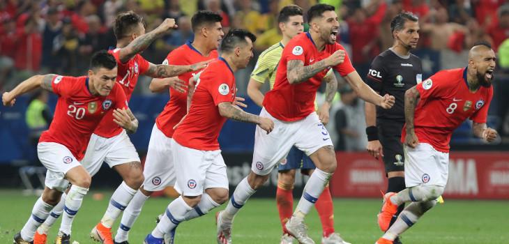 Reacciones Chile versus Colombia