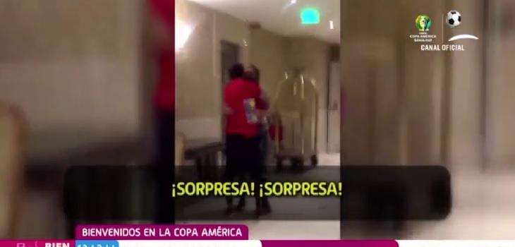 Tierna sorpresa a 'Chapita': su mujer e hijos lo conmueven visitándolo en Río de Janeiro