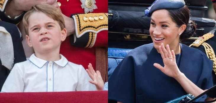 Príncipe George que hizo reír a Meghan Markle en Trooping the Colour