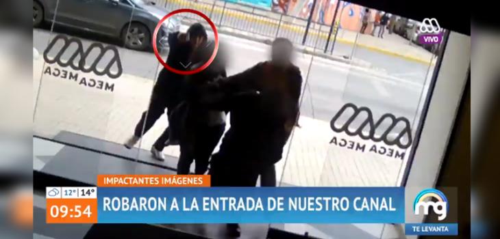 Mucho Gustó mostró violento intento de robo a las puertas del canal