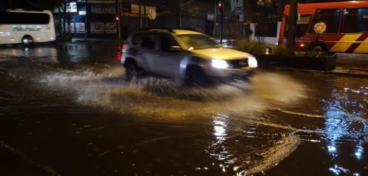 anegamientos y fuertes lluvias en la capital