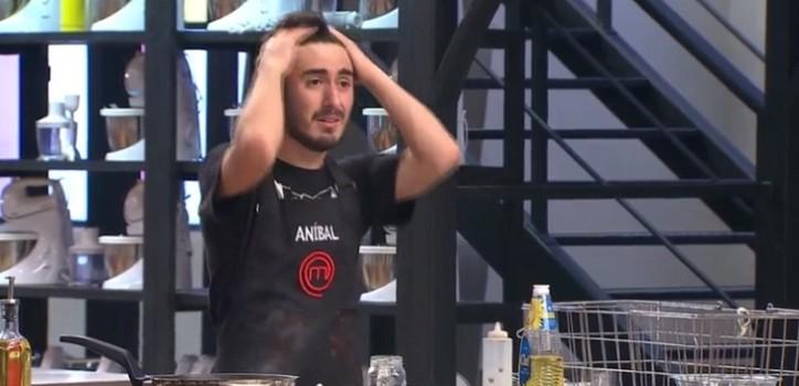 anibal se frustro en masterchef y fue eliminado