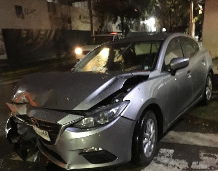 auto chocado de edmundo varas