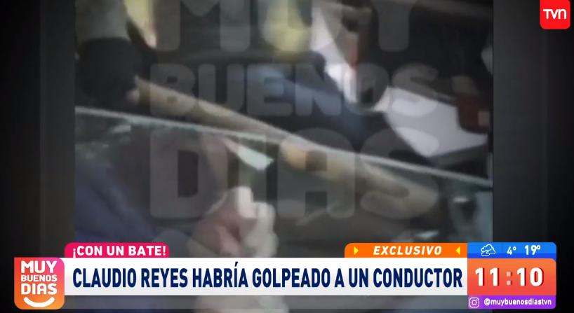 Joven conductor denunció a Claudio Reyes de golpearlo con un bate en plena calle