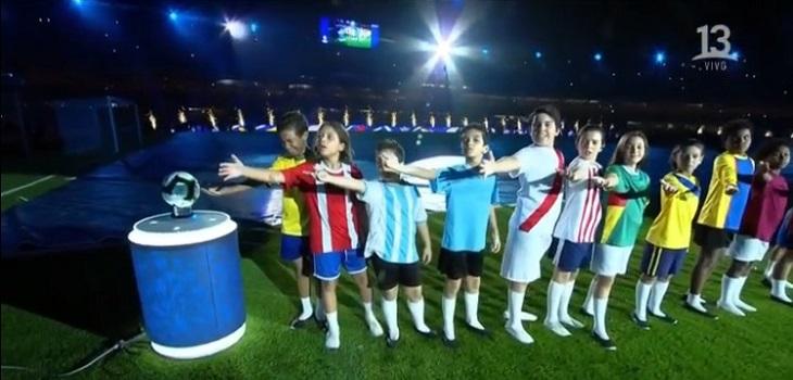 Fail en la camiseta de Chile en ceremonia inaugural de la Copa América