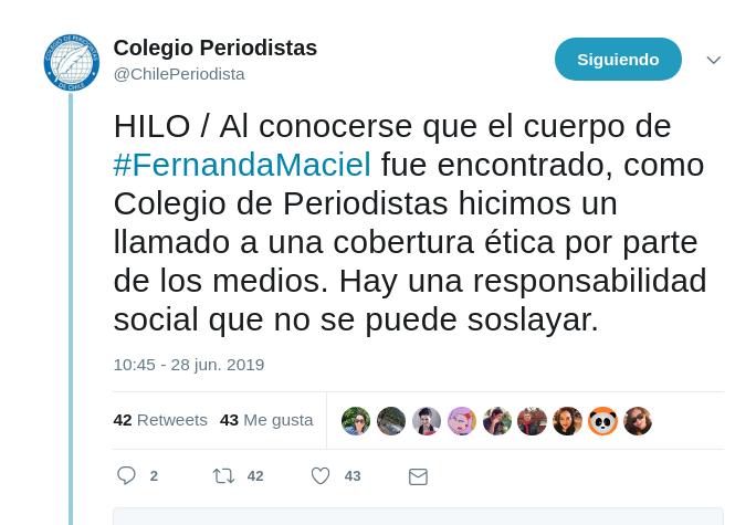 Critican a TVN por revelar presunto perfil psicológico de Fernanda Maciel