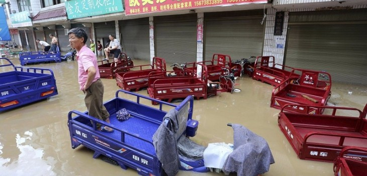 Impactante registros muestran cómo las inundaciones han afectado China