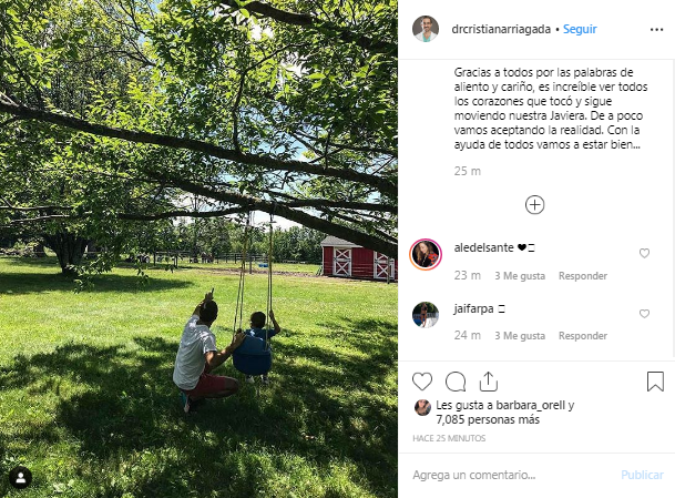 Esposo de Javiera Suárez publicó foto con Pedrito Milagros conmovedor mensaje