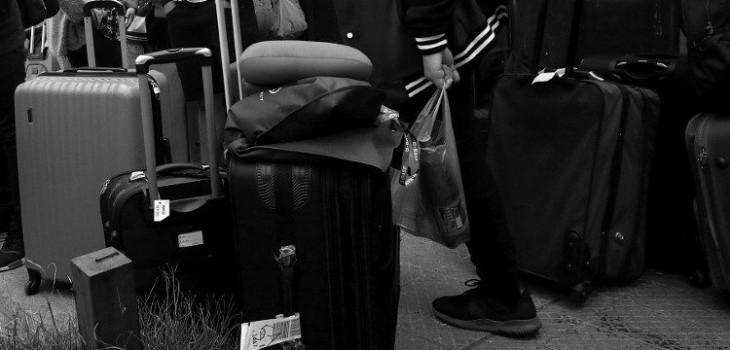 gira de estudios, maleta