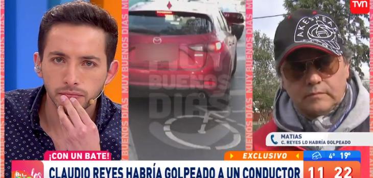 Denuncia a Claudio Reyes de golpear a conductor con un bate