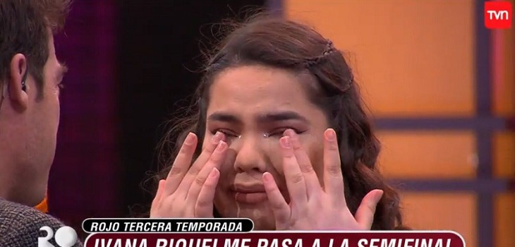 ivanna emcionada por llegar a semifinal de rojo