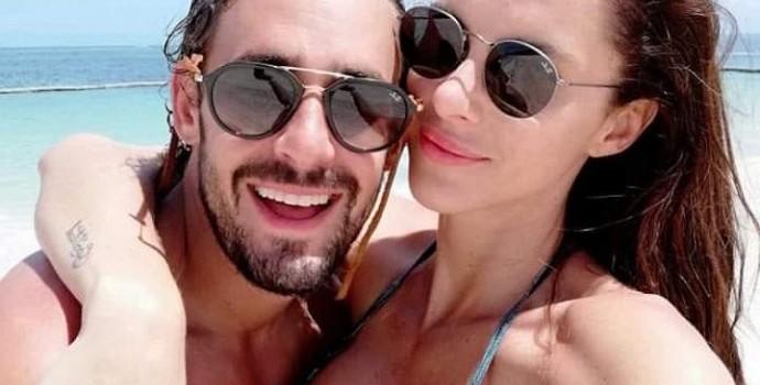 románticas imágenes de Ariel Levy y Margot Corvalan en Punta Cana
