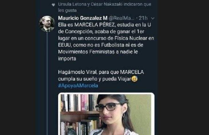 ursula letona retuiteo noticia falsa de mia khalifa