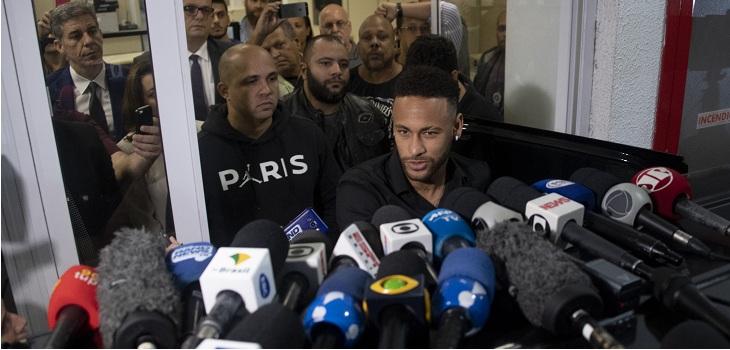 neymar delcaro por el caso de violacion