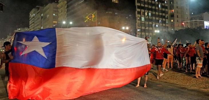 hinchas chilenos en rio de janeiro
