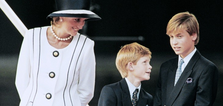 princesa diana y los principes william y harry