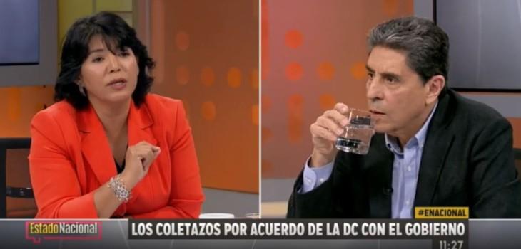 Tensa discusión entre Yasna Provoste y Mauricio Rojas