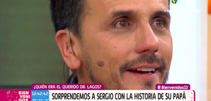 Sergio Lagos emocionado en Bienvenidos
